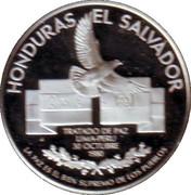 Medal - Honduras - El Salvador Peace Treaty 1980 – reverse