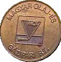 Car Wash Token - MOL (Magyar Olaj) – reverse