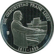 Token - The 200th Anniversary of Ferenc Liszt – obverse