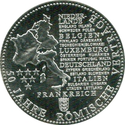 Token - Die Deutschen Prägestätten (50 years of the Treaty of Rome) – obverse