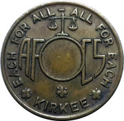 KIRKEE - Ammunition Factory Canteen Token without Hole – obverse