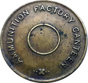 KIRKEE - Ammunition Factory Canteen Token without Hole – reverse