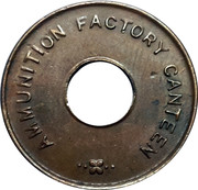 KIRKEE - Ammunition Factory Canteen Token with Hole – reverse