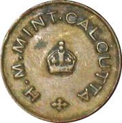 ½ Anna (Mint Canteen Token) – obverse