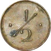 ½ Anna (Mint Canteen Token) – reverse