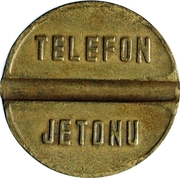Telephone Token - PTT (medium - intercity calls) – reverse