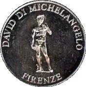 David di michelangelo firenze uffizi souvenir coin for Coin firenze