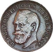 Token - Vittorio Emmanuele III - Emile Loubet – reverse