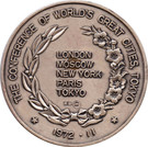 Token - Tokyo Conference of World's Great Cities – reverse