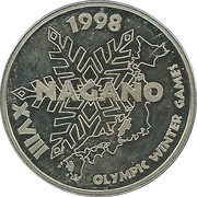 Nagano XVIII 1998 Olympic Winter Games – obverse