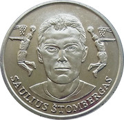 Official Lithuanian Basketball Players Medal Collection (Saulius Štombergas) – obverse