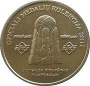 Official Lithuanian Basketball Players Medal Collection (Saulius Štombergas) – reverse