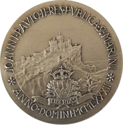 Token - Commemoration of Pope John Paul II's visit to San Marino on 5 May 1983 – obverse