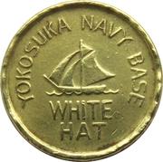 Juke Box Token - White Hat (Yokosuka Navy Base, Japan) – obverse