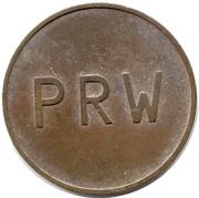 2 Pence - PRW (Phonographic Ruffler & Walker) – obverse
