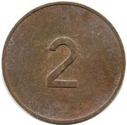 2 Pence - PRW (Phonographic Ruffler & Walker) – reverse
