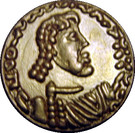 Tremissis d'or de Constantine IV – obverse
