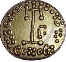 Tremissis d'or de Constantine IV – reverse