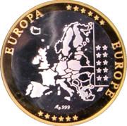 Token - European Currency (Monaco) – reverse