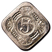 5 Cents - Beatrix (Juliana / Wilhelmina; Liberation) – reverse