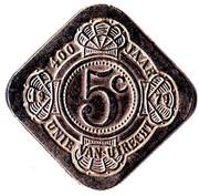 5 Cents - Beatrix (Birthday of Queen Juliana, Union of Utrecht) – reverse