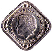 5 Cents (Anniversary of Queen Juliana) – obverse