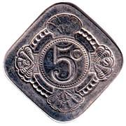 5 Cents (Anniversary of Queen Juliana) – reverse