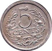 5 Cents - Beatrix (Prince Maurits) – reverse