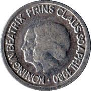 5 Cents - Beatrix (Queen Beatrix and Prince Claus) – obverse