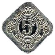5 Cents - Beatrix (Queen Beatrix / Juliana / Wilhelmina) – reverse