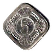 5 Cents - Beatrix (Queen Juliana - Prince Bernhard) – reverse