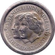 5 Cents - Beatrix (Princess Margriet and Pieter van Vollenhoven) – obverse