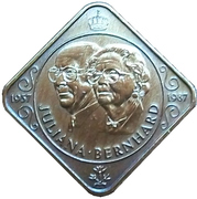 50 Cents - Beatrix (Marriage of Queen Juliana and Prince Bernhard) – obverse