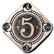 5 Cent - Beatrix (5th Anniversary of the inauguration) – reverse