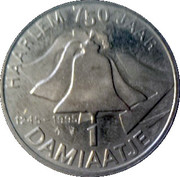 1 Damiaatje - Haarlem (750 years) – reverse