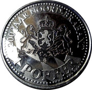 1 Poffer - Noord-Brabant (200 jaar Noord-Brabant) – reverse