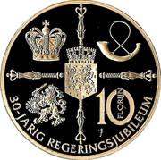 10 Florijn - Beatrix – reverse