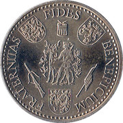 Europees Koningschieten Noviomagus Carolus Aeneus 1977 – reverse