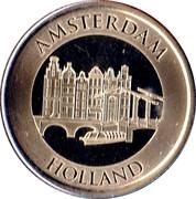 Holland-Amsterdam-Grachtenpanden Souvenir Token – obverse
