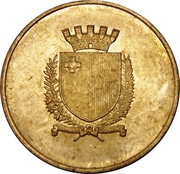 Token - 25 Years of Independence – obverse