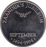 Zaandijk's Jubileum – reverse
