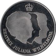 Penning - Beatrix (Rabobank 100 jaar) – obverse