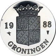 Royal Dutch Mint Set Token - Groningen -  obverse