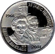 35th anniversary of the marriage of Queen Beatrix and Prince Claus (2001) – obverse