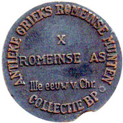 Token - Collectie BP (X; Romeinse As) – reverse