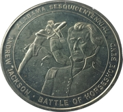 Token - Alabama Sesquicentennial (Battle of Horseshoe Bend) – obverse