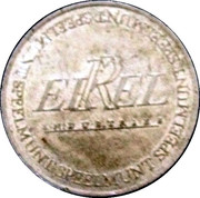 Errell Industries Speelmunt – obverse