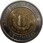 10 Francs - Republic and Canton of Neuchâtel (l 'Alexis) – reverse