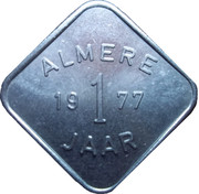 Rabobank Almere 1 year anniversary token – obverse