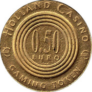 0.50 Euro Gaming Token - Holland Casino – obverse